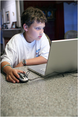 boy laptop